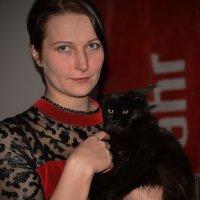 Девушка с котом :: Наталия П