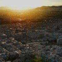 Афины на закате, вид с холма Ликавитос :: Владимир Брагилевский