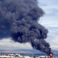 Пожар в Хайфе. :: Валерьян Запорожченко