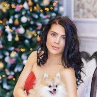 Девушка с собачкой :: Виктория Дубровская