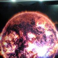 """Фото с выставки """"Просто космос"""". (Поверхность Солнца). Проходит выставка в Лофт Проект ЭТА :: Светлана Калмыкова"""