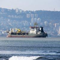 Корабль на фоне Хайфы :: Николай Волков
