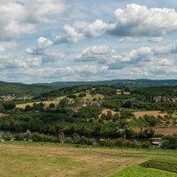 Висячие сады Маркессак. Вид на реку долину реки Дордонь. :: Надежда Лаптева