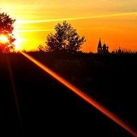 вечер над селом Парское Ивановская область :: Елена Малкова