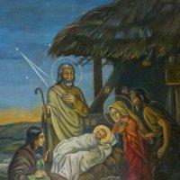 Рождество Христово. Роспись стены храма Святой Троицы. :: Elena Izotova