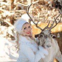 Зима и северный олень :: Татьяна Семёнова