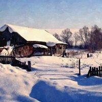 Хорошо зимой в деревне! - непочатый снега край ... :: Евгений Юрков