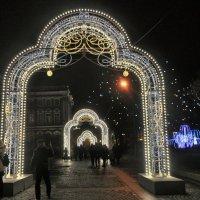 Новогодняя иллюминация у Эрмитажа. :: Ольга