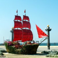 Алые паруса на набережной Анапы :: Нина Бутко