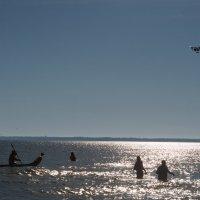 зима в разгаре на озере Мичиган :: MVMarina