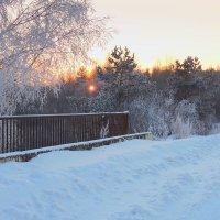 Вот и Солнце, удаляясь на покой, опускается за сонною рекой. :: Павлова Татьяна Павлова