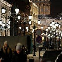Вечер на Малой Конюшенной с видом на Казанский собор :: Виктор | Индеец Острие Бревна