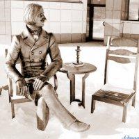 Дело было в январе, сидел Гоголь во дворе..:) :: Андрей Заломленков