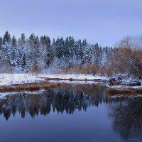 Зимний вечер опустился над рекою :: Павлова Татьяна Павлова