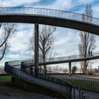 Подъем на мост через Рейн :: Witalij Loewin