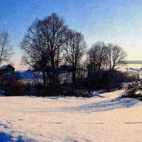За околицей села метель снега намела ... :: Евгений Юрков