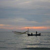 Ко Чанг. Рыбная ловля на закате. :: Лариса (Phinikia) Двойникова