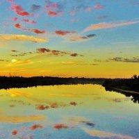 На реке на закате :: Leonid Tabakov