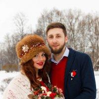Зимний свадебный портрет :: Алексей Корнеев