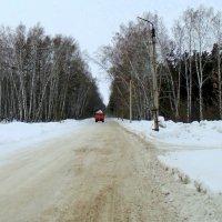 Вывоз снега по наезженной дороге. :: Мила Бовкун