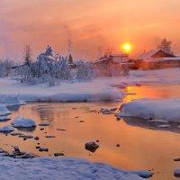 вечерний закат января... :: Александр