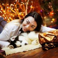 Обворожительная Ксения и друг человека Хася :: Кристина Беляева