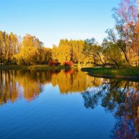 Золотые отражения у Березового острова... :: Sergey Gordoff