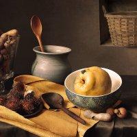 Натюрморт с айвой и тропическими фруктами :: Татьяна Карачкова