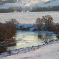река Дон окутан льдом :: Дмитрий Денисов