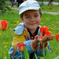 Мальчик и весна :: Olcen - Ольга Лён