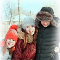 Семья,дети из многодетной семьи.Счастливые :: Ольга Бархатова