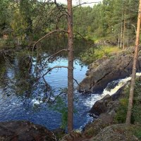Водопады на реке Тохмайоки относятся к равнинным :: Елена Павлова (Смолова)