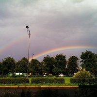 Причуды природы - двойная радуга :: Андрей Кротов