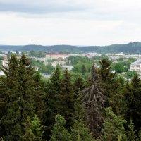 Вид с горы Кухавуори (Гора-Судак) на г. Сортавала :: Елена Павлова (Смолова)