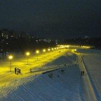 Ночная набережная реки Оки. :: Борис Митрохин