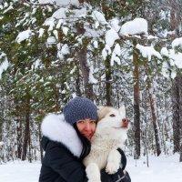 Девушка с хаски :: Alexey Gayun