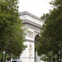 Вид на Триумфальную арку в Париже :: Фотограф в Париже, Франции Наталья Ильина