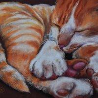 Когда я сплю, меня называют СОЛНЫШКОМ! (Картина написана пастелью). :: Лара Гамильтон