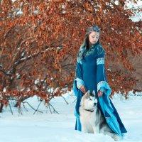 Прекрасная Мария с собакой по кличке Царь :: Мария