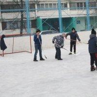Хоккей во дворе :: Дмитрий Никитин