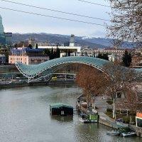 Визитная карточка Тбилиси - пешеходный мост Мира. :: Anna Gornostayeva