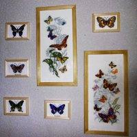 Бабочки. Вышивка крестом :: татьяна