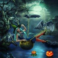 Queen of halloween - королева хелоуина :: Malinka Art Galina Kazan