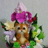 Котик в цветах :: Алёна Королева