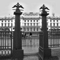Михайловский замок от ворот Летнего сада :: Наталья