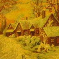 Зима. Вышивка крестом :: татьяна
