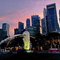 Merlion - символ Сингапура :: Андрей K.