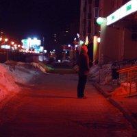 Ночь. Улица. Фонарь. Сбербанк. :: Иван Пархутов