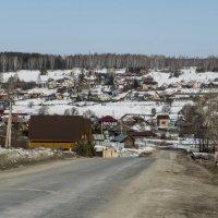 Вид на село с горки :: Михаил Полыгалов