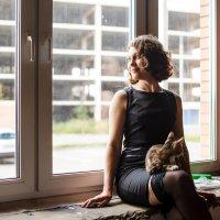 Девушка с кошкой :: Валентина Батурина